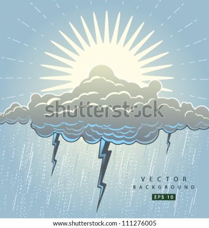 Vector weather colour - stock vector