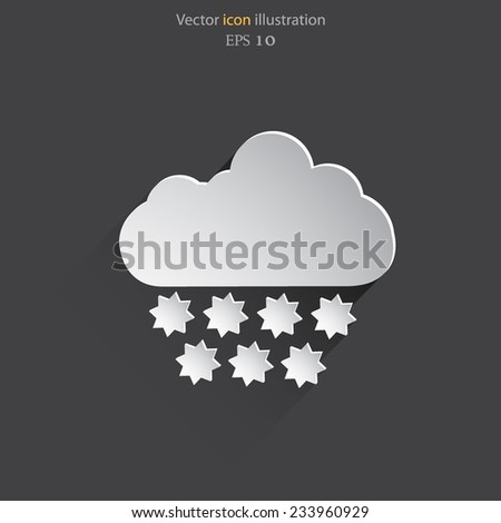 Vector weather web flat icon. Eps 10 illustration. Weather background.