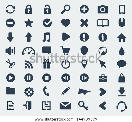Vector web and application icons set
