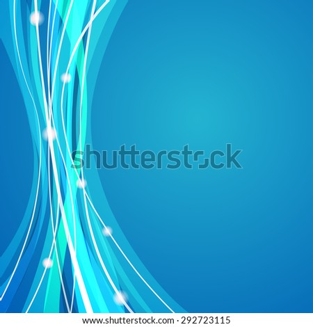 Vector web background design with white stripes theme on blue background. - stock vector