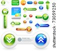 Vector web button. Download icon. Guarantee label. Best collection. - stock photo