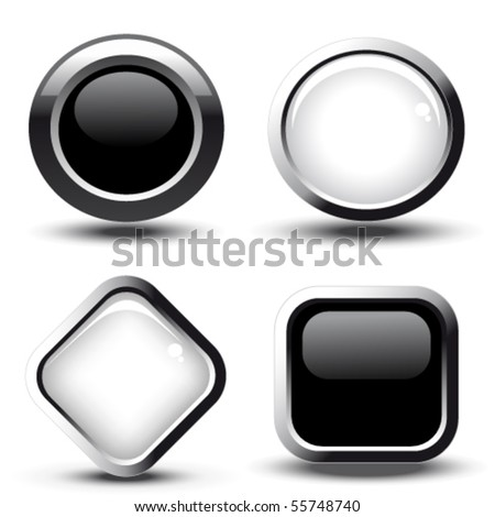 Vector web buttons - stock vector