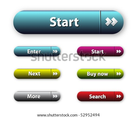 Vector Web 2.0 buttons set for