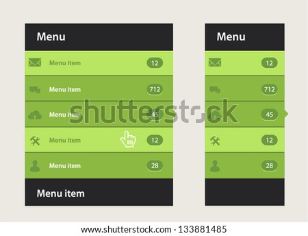 Vector web design navigation menu - stock vector