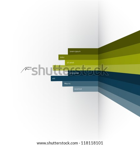 vector web design template - horizontal lines in perspective - stock vector