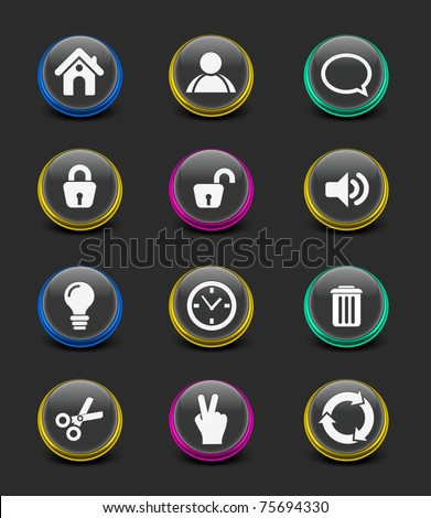 vector web icon for your web icon design used. - stock vector