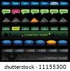 Vector Web navigation templates 4. - stock photo