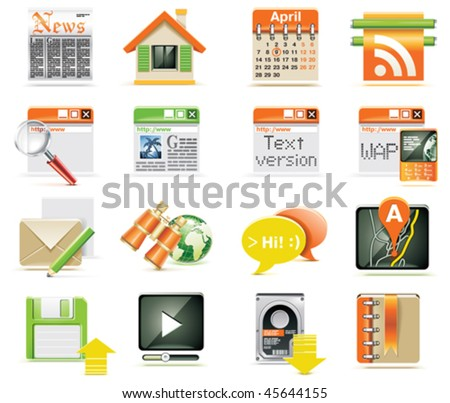 Vector web page icon set - stock vector