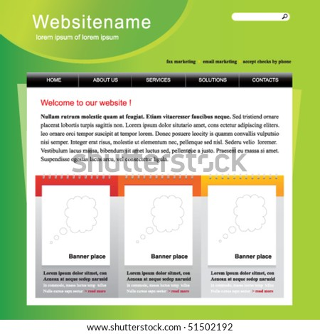 Vector web site template - stock vector