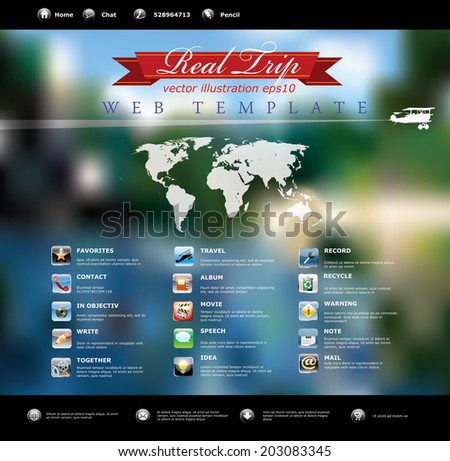 vector web template for various business - stock vector