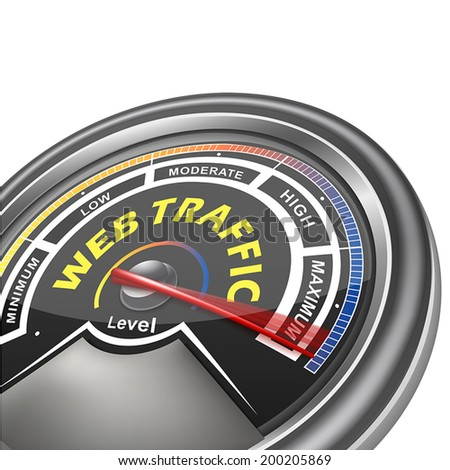 vector web traffic conceptual meter indicator isolated on white background - stock vector