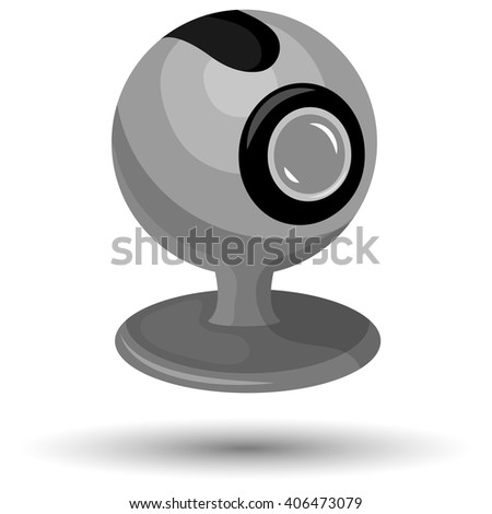 Vector webcam flat icon