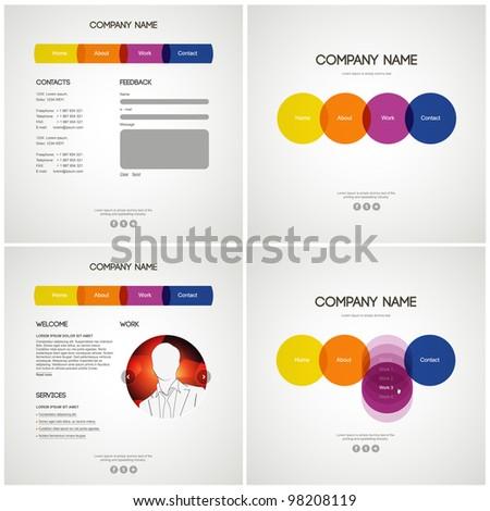 Vector Website Design Template - stock vector