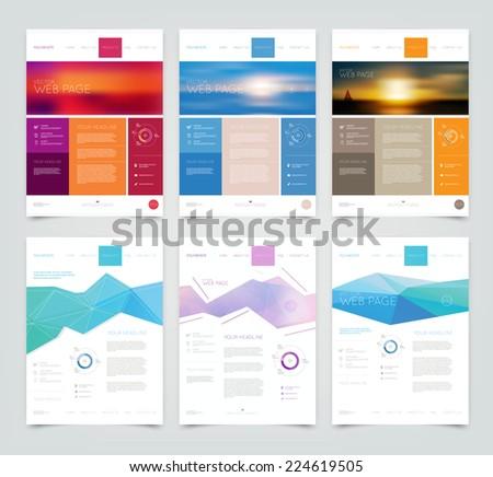 Vector website design templates collection  - stock vector