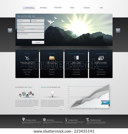 Vector Website Template Design Eps 10 - stock vector