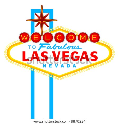 Vector Welcome to Fabulous Las Vegas Nevada Sign isolated on white - stock vector
