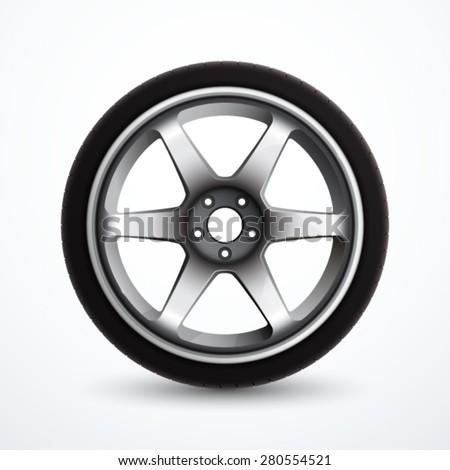Vector wheel - stock vector