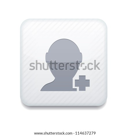 Vector white Add friend icon. Eps10. Easy to edit - stock vector