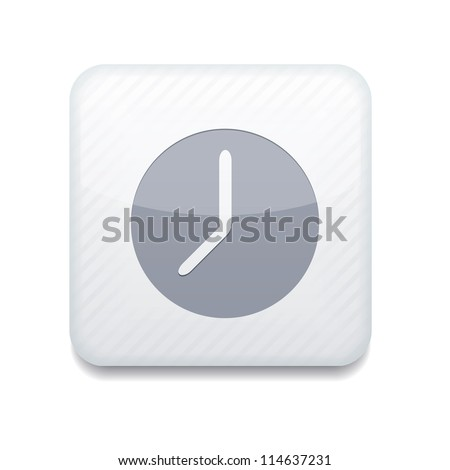 Vector white clock icon. Eps10. Easy to edit - stock vector