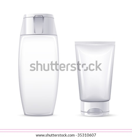 vector white containers. There are VARIETY of white containers in my portfolio ;) - stock vector