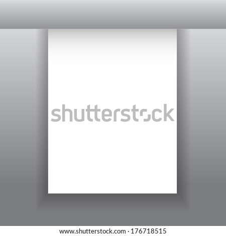 Vector white empty paper sheet with space for your text. Easy editable because all objects are separated from each other, at desire can move. Vector illustration/ EPS 10 - stock vector