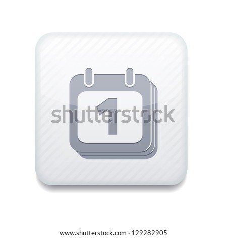 Vector white icon. Eps10 - stock vector