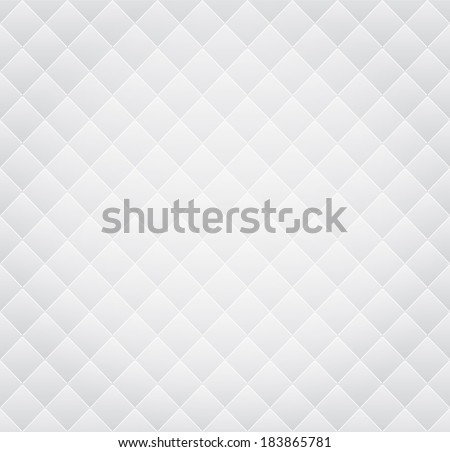 Vector White Leather Vintage Seamless Background Pattern - stock vector