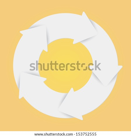 Vector white life cycle diagram. 5 Steps. - stock vector