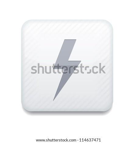 Vector white  lightning icon. Eps10. Easy to edit - stock vector