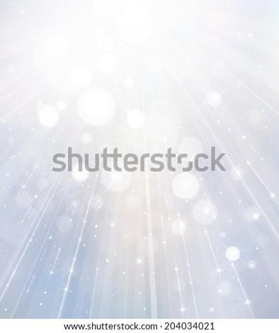 Vector white lights background. - stock vector