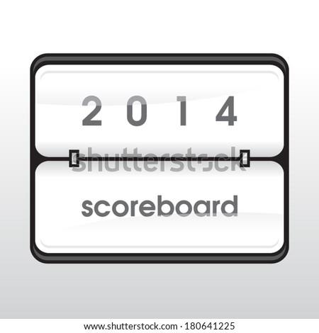 Vector white mechanical scoreboard - stock vector