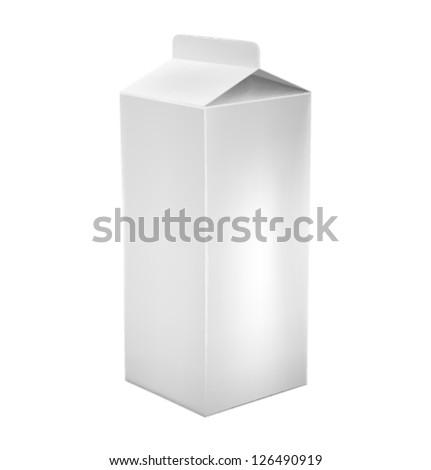 vector white milk box - stock vector