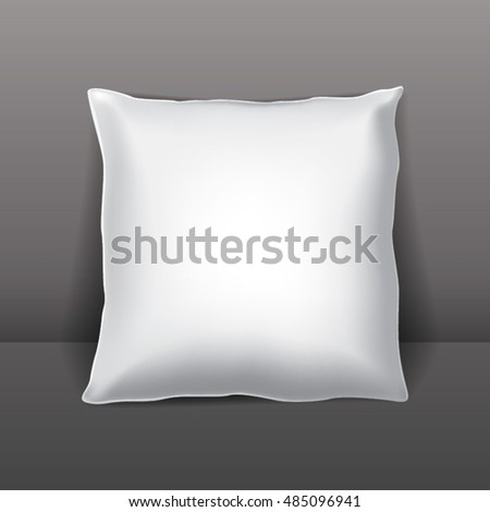 Vector white pillow or packaging