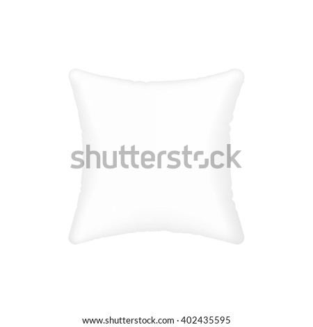 vector white pillow. realistic vector mock up isolated on white. - stock vector