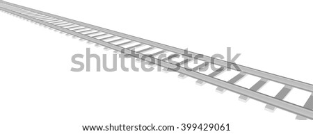 Vector White sleepers and rails
