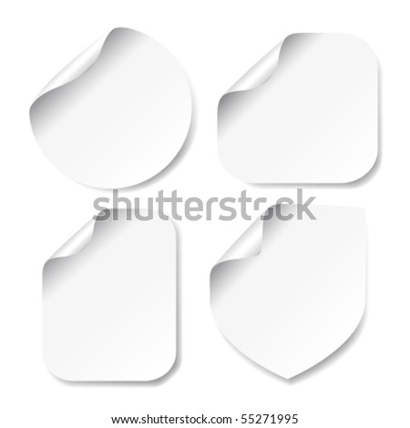Vector white stickers