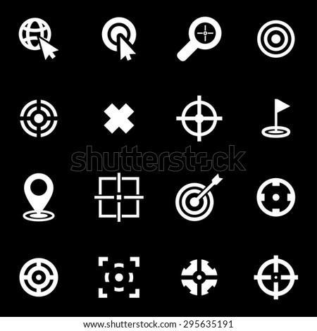 Vector white target icon set. Target Icon Object, Target Icon Picture, Target Icon Image, Target Icon Graphic, Target Icon JPG, Target Icon EPS, Target Icon AI - stock vector - stock vector