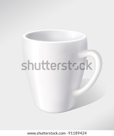 Vector white tea mug - stock vector