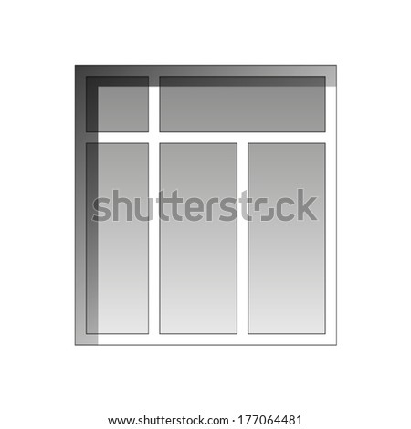 Vector window on a white background - stock vector