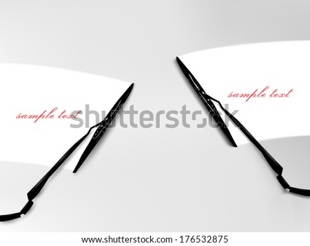 vector windscreen wiper illustration  - stock vector