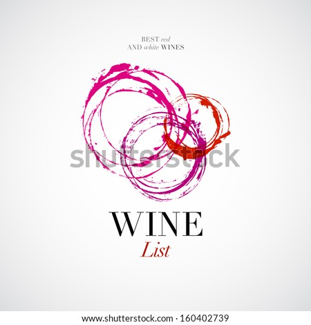 Vector wine list with stain icon - stock vector