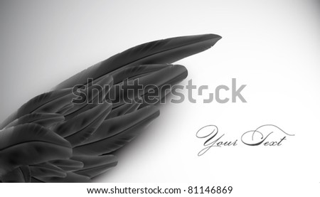 vector wing illustration - stock vector