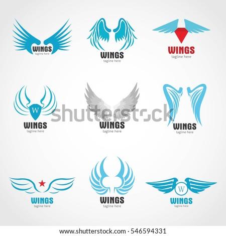 birds branding symbols vector set on stock vector