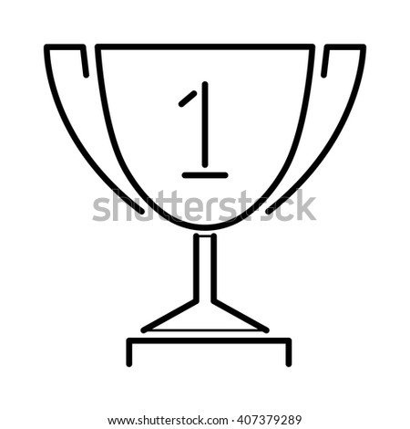 Vector winner gold award cup and champion golden award cup design symbol. Trophy gold award cup flat icon vector illustration. Award flat icon isolated. Winner award cup - stock vector