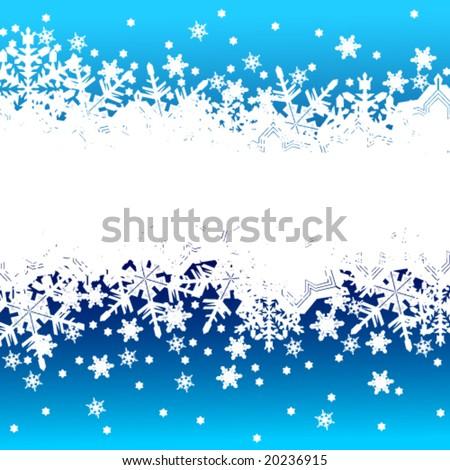 Vector winter banner - stock vector
