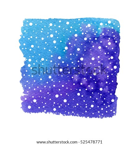 Vector winter holidays shape with snow. Christmas space background.