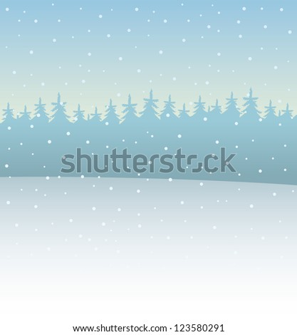 Vector. Winter nature.