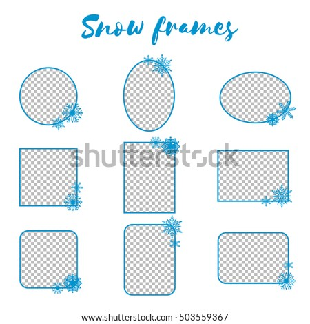Vector Winter Snow Frame Transparent Background Stock Vector HD ...