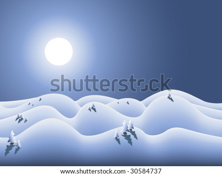 vector winterland for winter season and christmas
