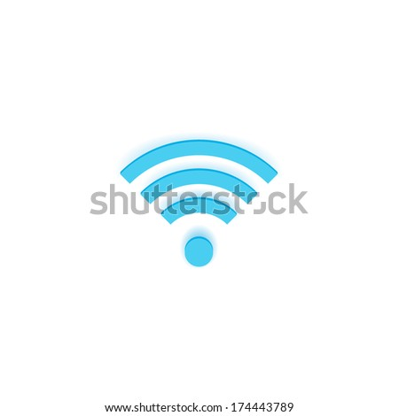 Vector Wireless Icon Isolated on White Background - stock vector